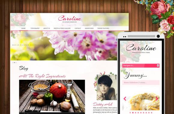 Caroline Feminine WordPress Theme