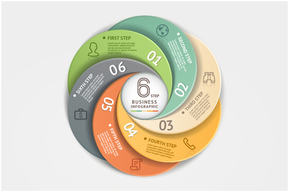 Modern Infographic Circle Origami