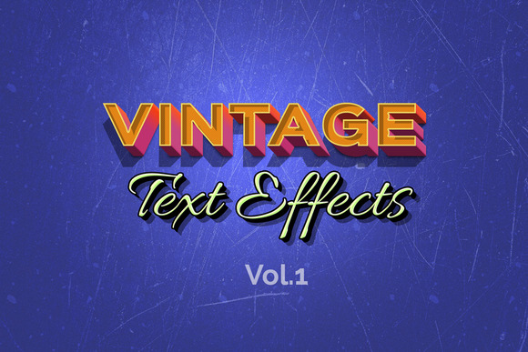 Vintage Retro Text Effects Vol.1
