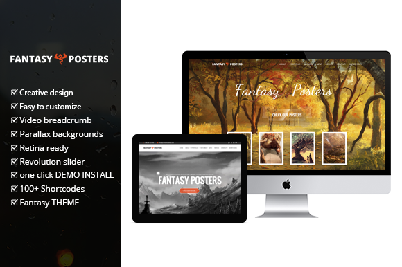 Fantasy Posters Wordpress Theme