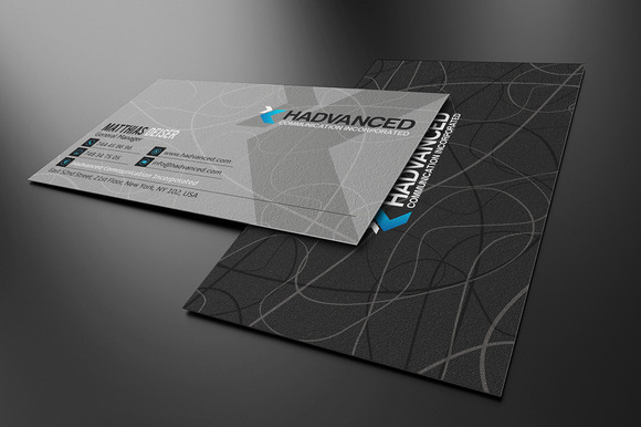 Grey Business Card