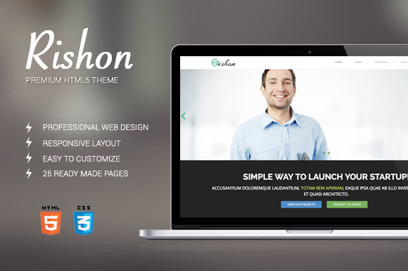 Rishon Business Bootstrap Theme