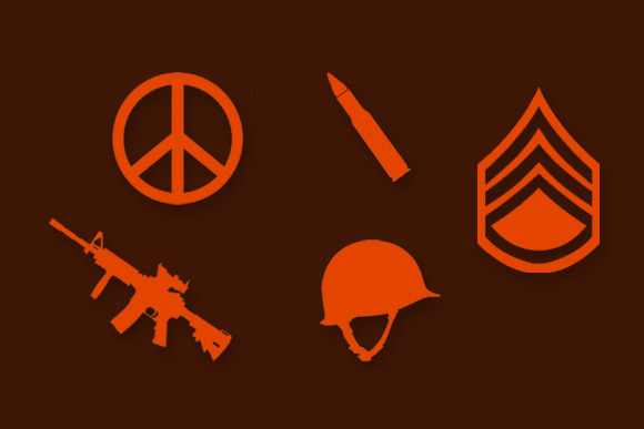 Military Icons And Backgrounds