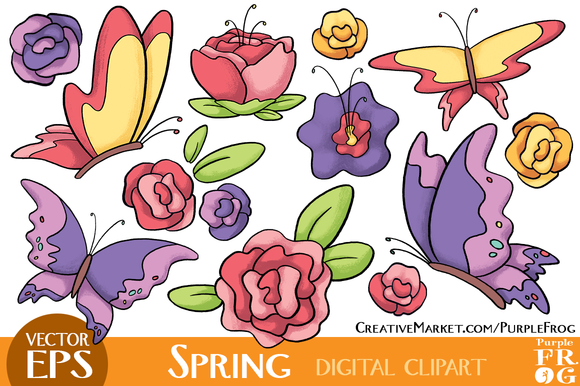VECTOR SPRING Digital Clipart