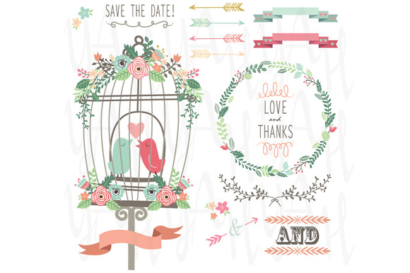 Birdcage And Wedding Flowers