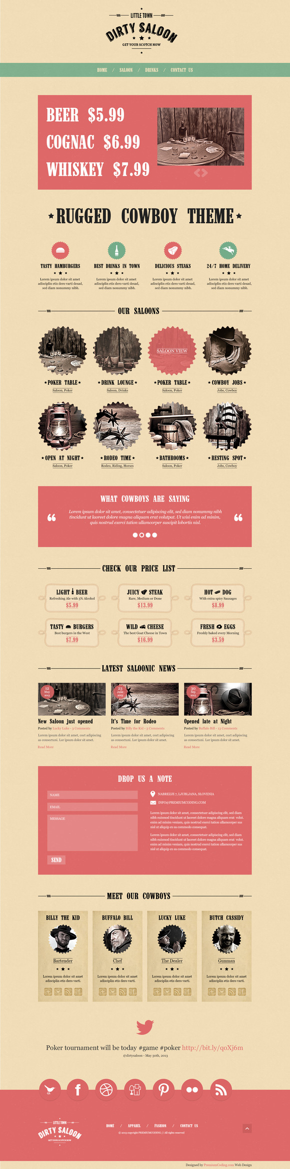 Dirty Saloon Bold Wordpress Theme