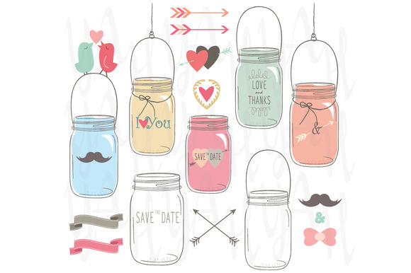 Wedding Mason Jar