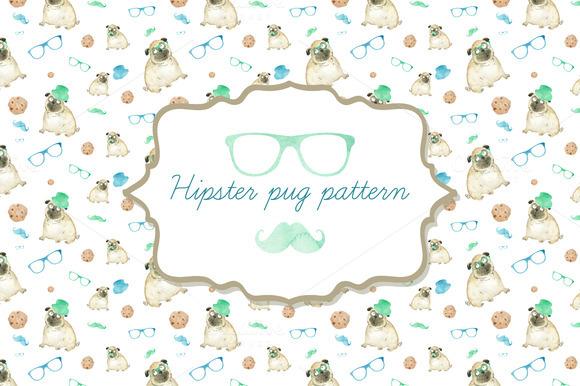 Hipster Dog Pattern