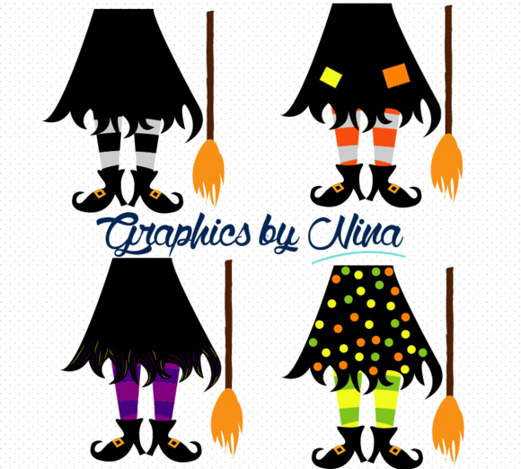 Witch Feet Clipart Illustration