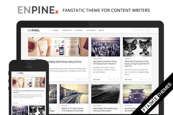 Enpine Fanstatic Theme For Writers