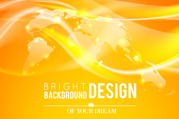 Abstract Shine Background Of World
