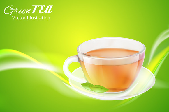 Tea Cup Over Bright Background