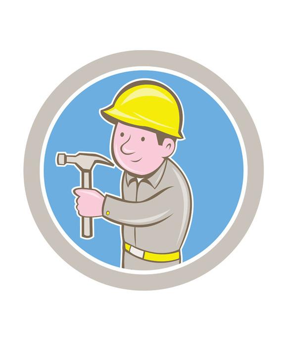 Carpenter Builder Hammer Circle