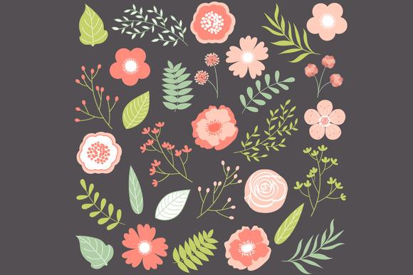 Pastel Flowers Set