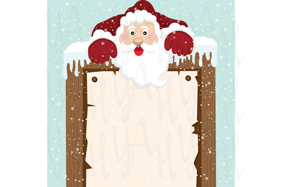 Santa Climb On Top Sign