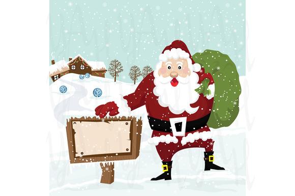 Santa With Sign