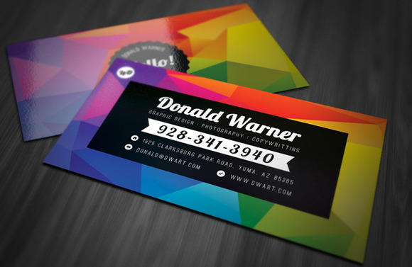 Color Explosion Business Card Templa