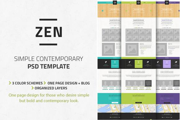 Zen OnePage PSD Template