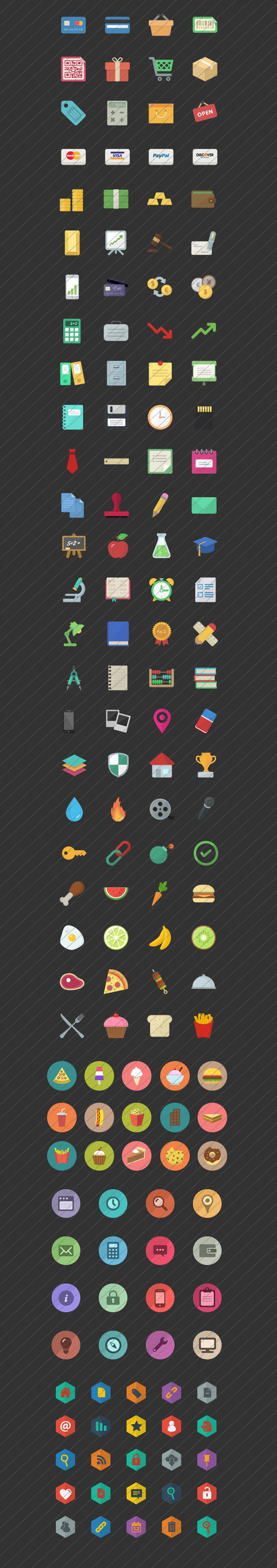 Flat Icons Bundle Pack