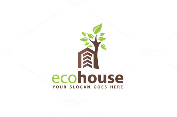 Eco House Logo Template