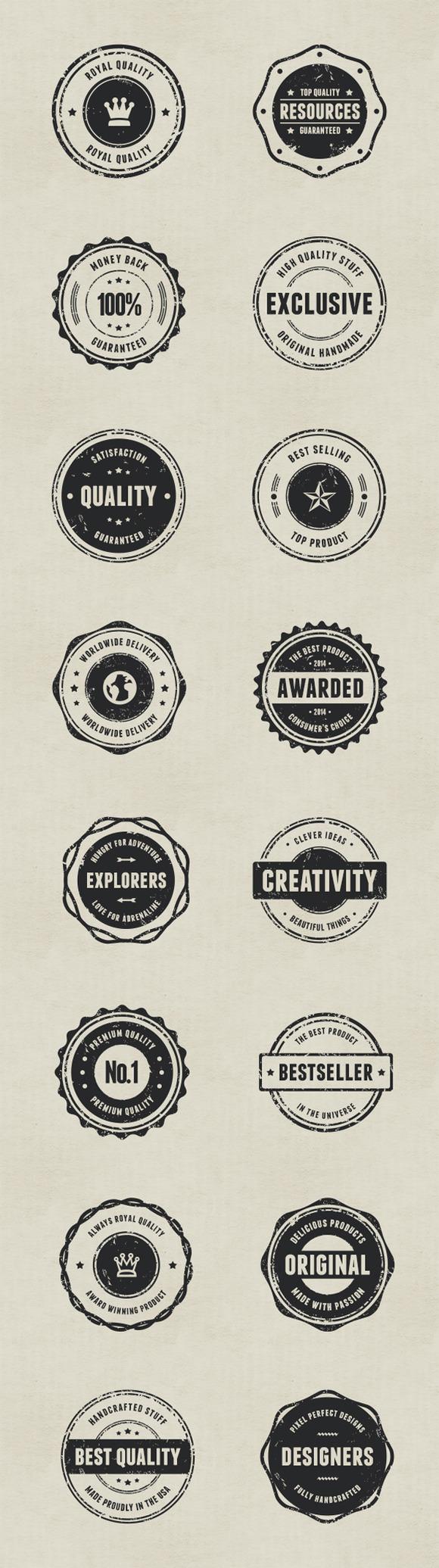 Rubber Stamp Badges