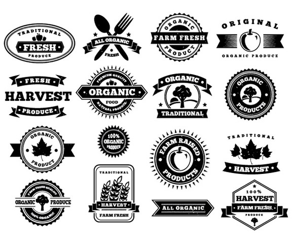 Harvest Vector Badges