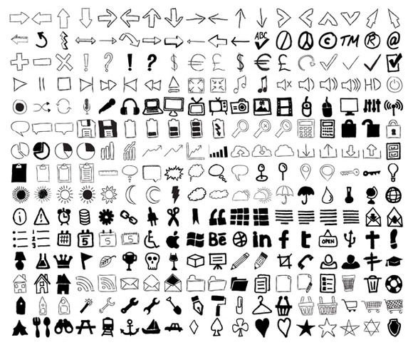 Imperfect Hand-Drawn Icon Set
