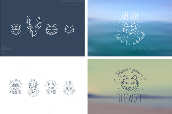 Animals Fox Wolf Deer Owl