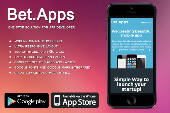 Beatapp Mobile App Developer Theme