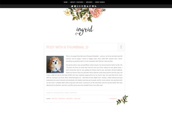 Ingrid An Elegant Wordpress Theme