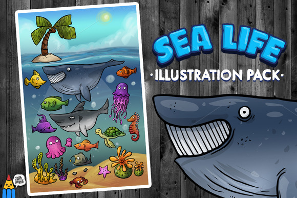 Sea Life Illustration Pack