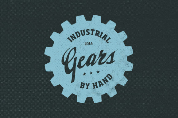 20 Gear Badge Shapes By Hand