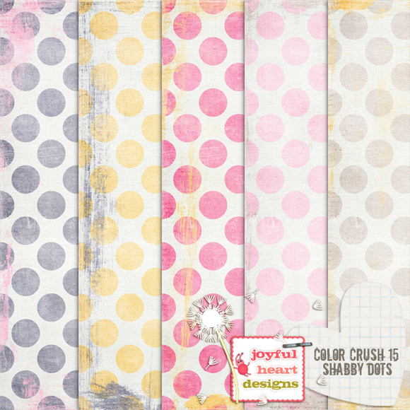 Color Crush 15 {shabby Dots}