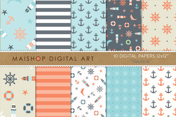 Digital Paper Nautical