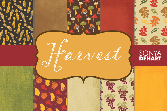 Harvest Fall Digital Paper Texture