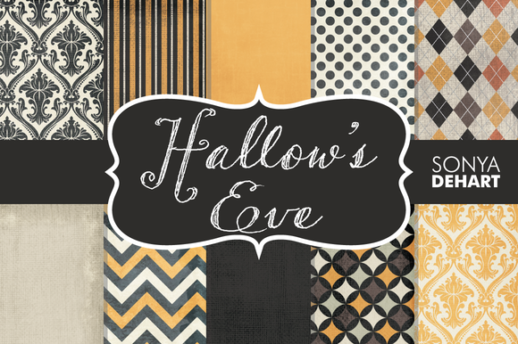 Hallow S Eve Textured Digital Papers