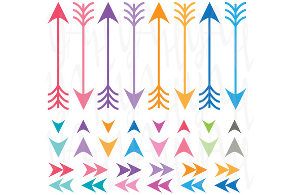 Digital Arrow Clip Art