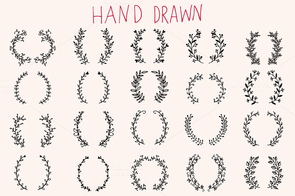 Hand Drawn Floral Brackets