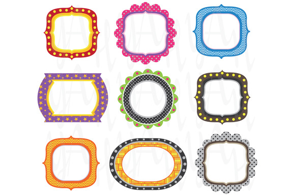 Set Colorful Frames Design
