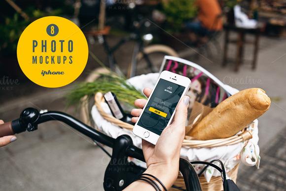 Iphone 5s Bike 8 Photo Mockups