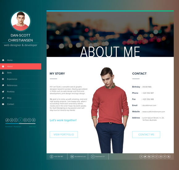 ISPY CV Resume Blog HTML Template