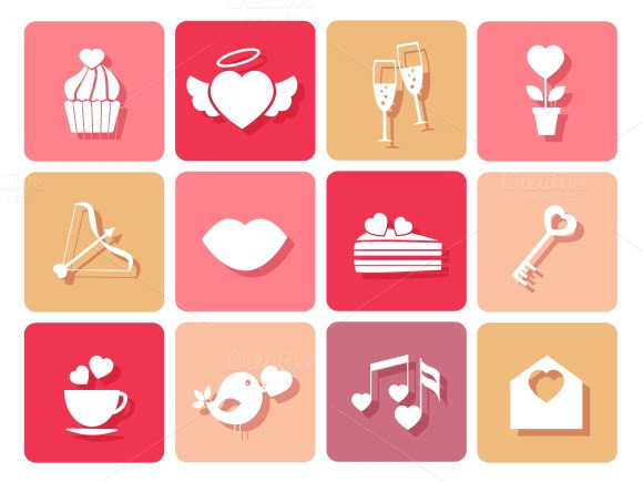 Wedding And Valentines Icons
