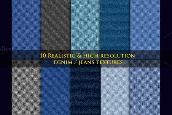10 Realistic Denim Jeans Textures