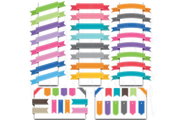 49 Pieces Ribbon Banners