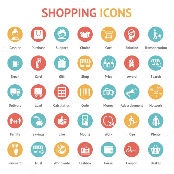 Purchase Payment And Delivery Icons