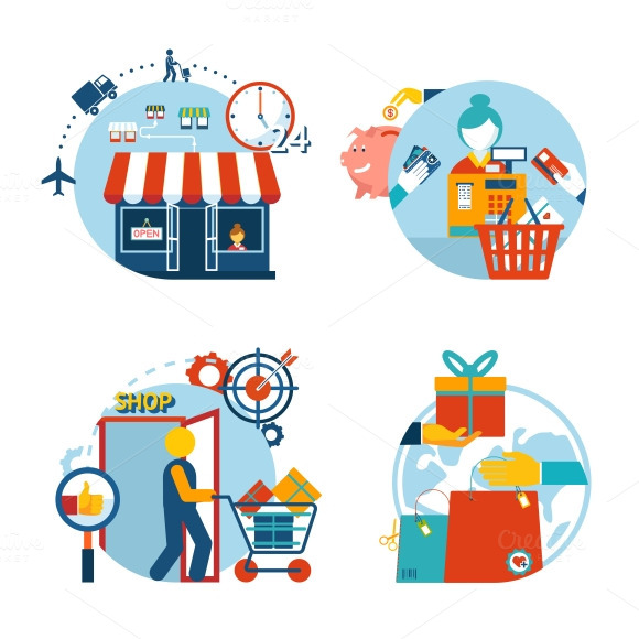 Store Shopping Icons