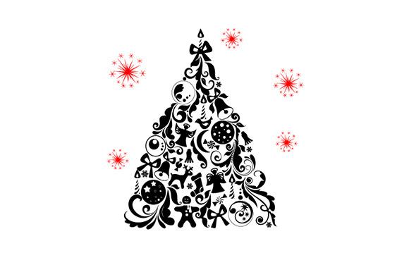 Christmas Swirls Tree