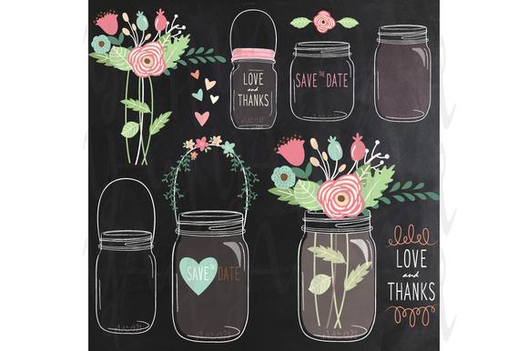 Chalkboard Flower Mason Jar