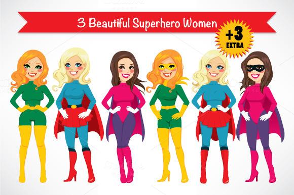 Three Super Hero Women