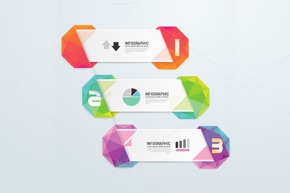 Geometric Number Banners Modern